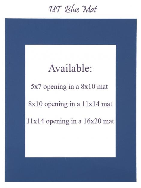 Toronto Blue Mat: 5x7 opening in 8x10 mat
