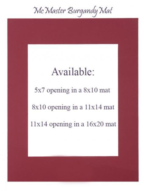 McMaster Burgundy Mat: 5x7 opening in 8x10 mat