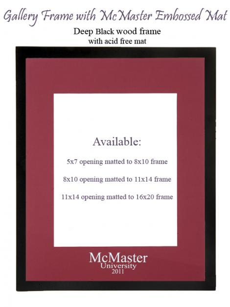 McMaster Embossed Mat and Frame: 5x7 opening in 8x10 mat framed