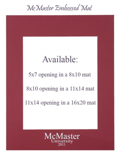 McMaster Embossed Mat: 5x7 opening in 8x10 mat