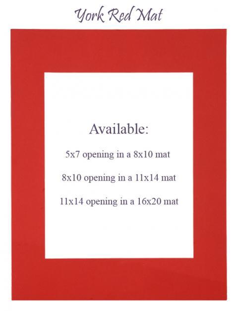 York Red Mat: 5x7 opening in 8x10 mat