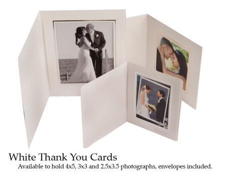 White ThankYou Card : 10 - 2.5x3.5 Portrait size